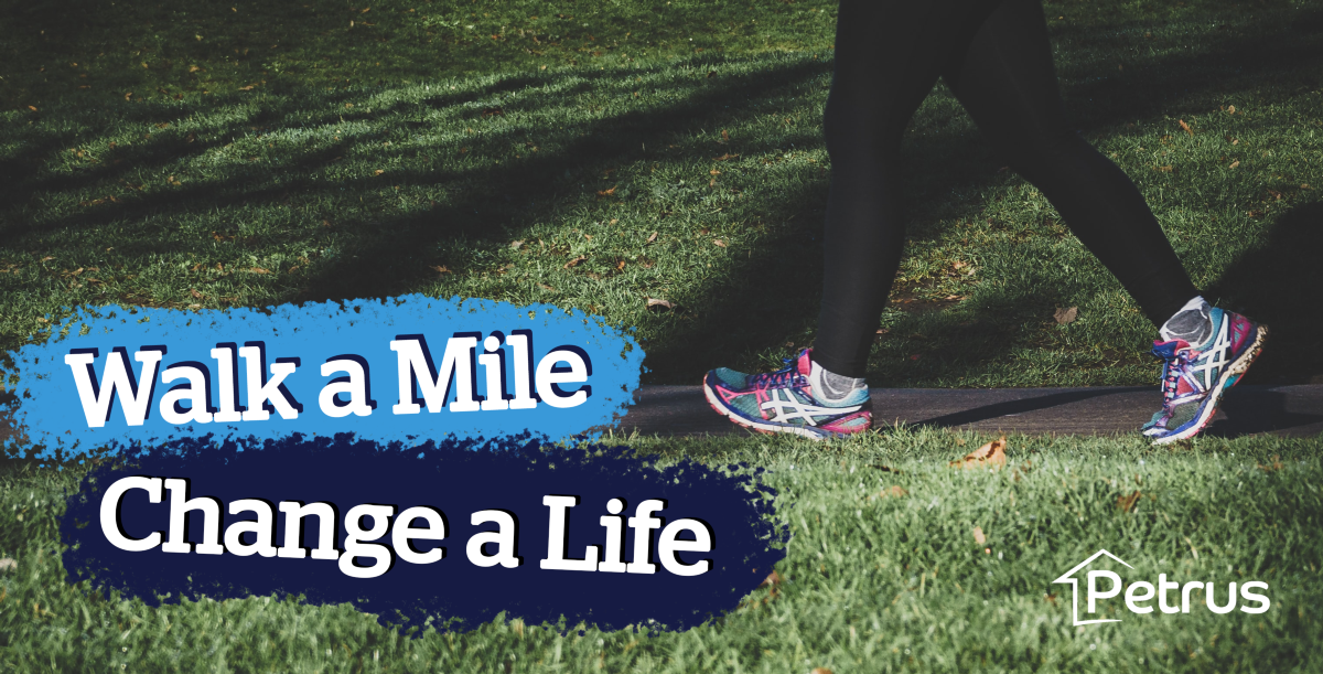 walk a mile change a life site banner