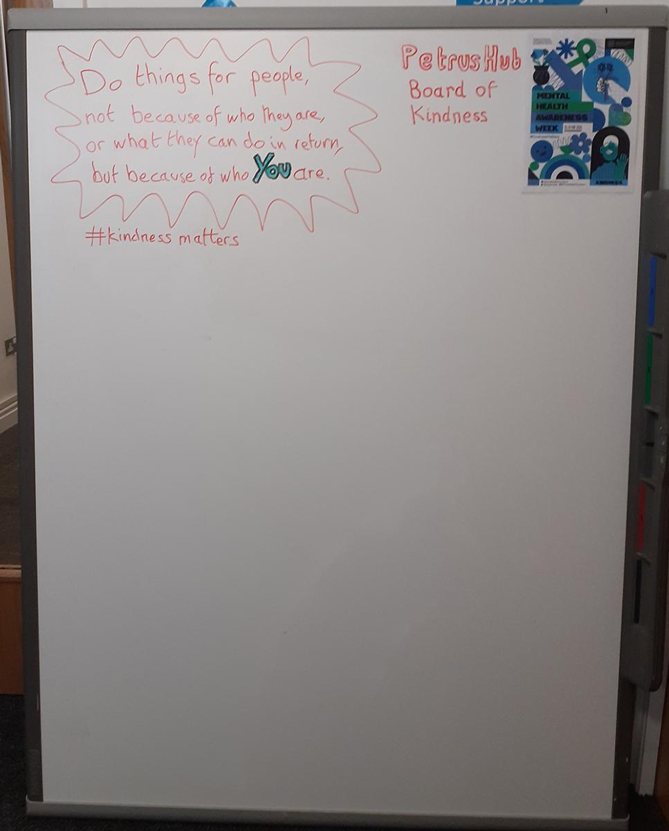 Kindness Board day one waiting for quotes to be added